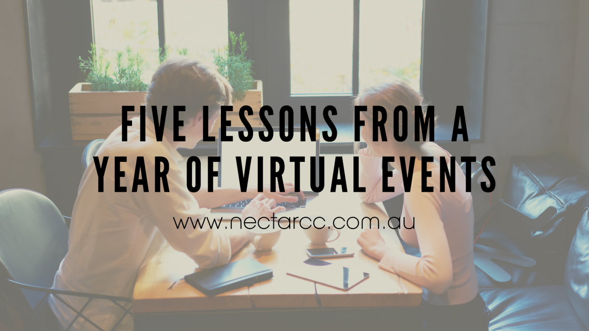 virtual events lessons